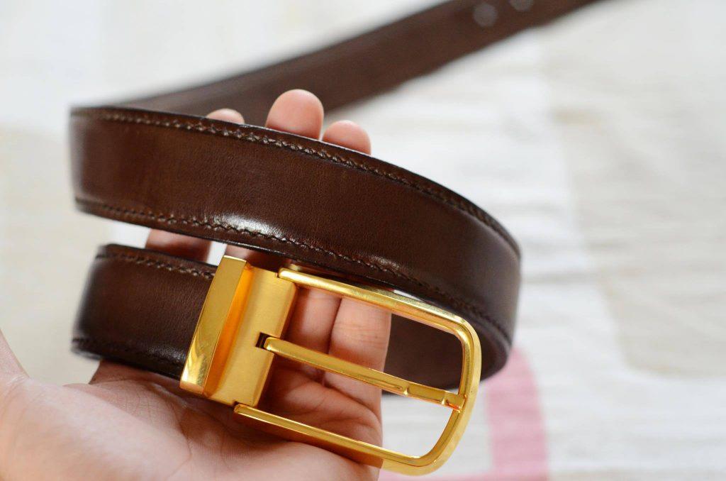 Thắt lưng nam da bò cao cấp vachetta (TL10006_Nau)