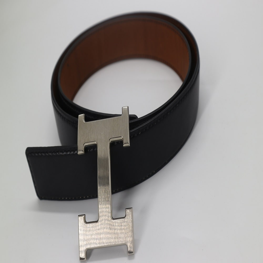 Thắt lưng nam da bò cao cấp Hermes dây đen