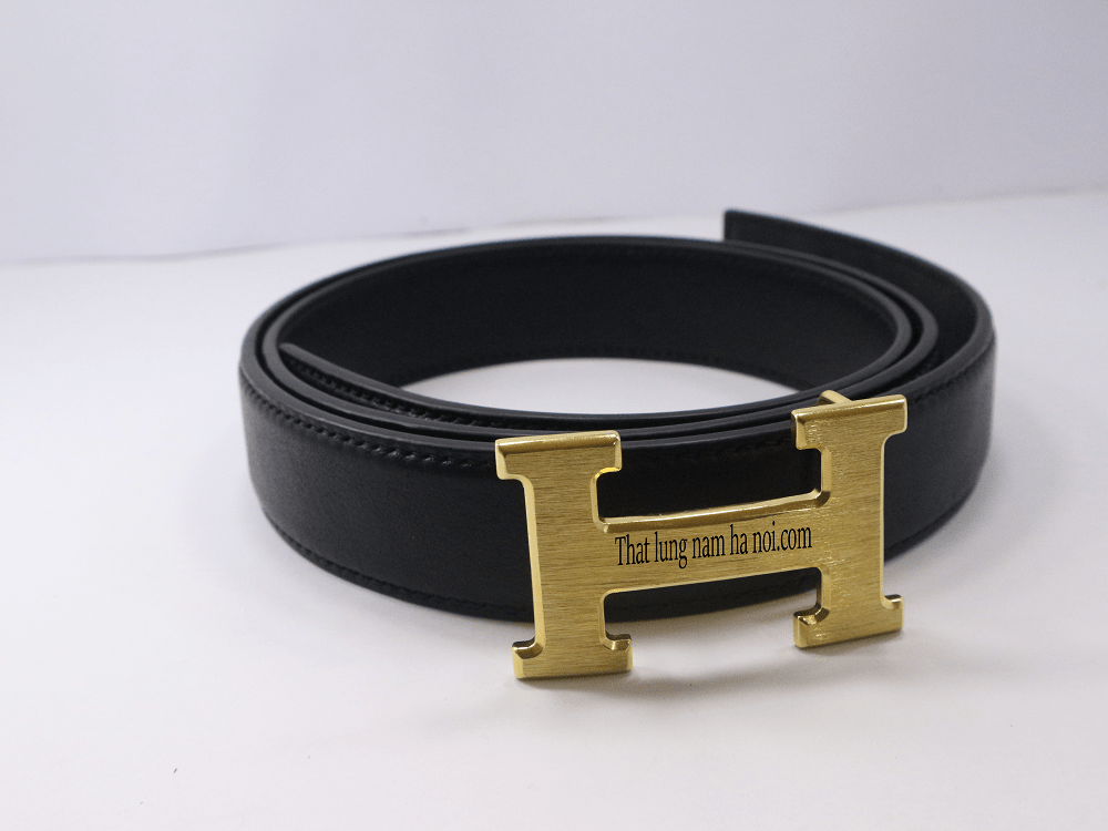 Thắt lưng nam da bò cao cấp Hermes - Da veg (TL10002_vang)