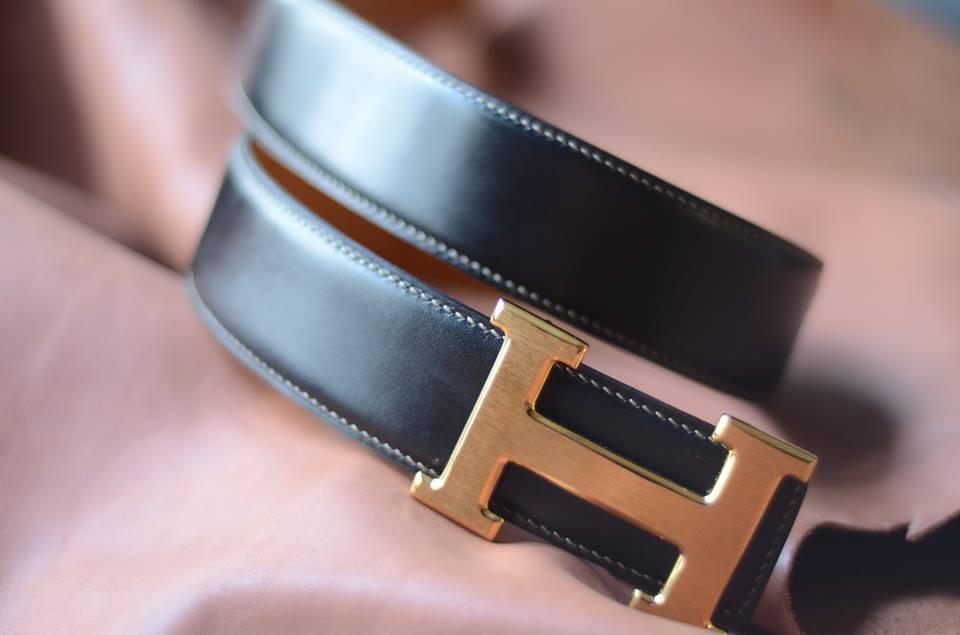 Dây lưng da bò Veg - ý cao cấp kết hợp mặt khóa H gold