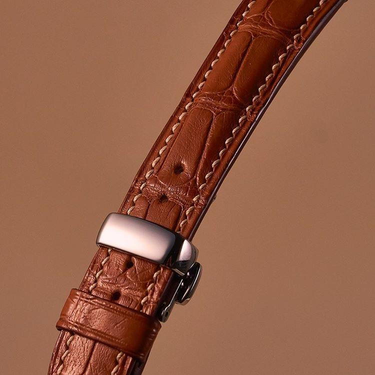 Dây đồng hồ handmade da cá sấu EU (DCS 10095) màu nâu