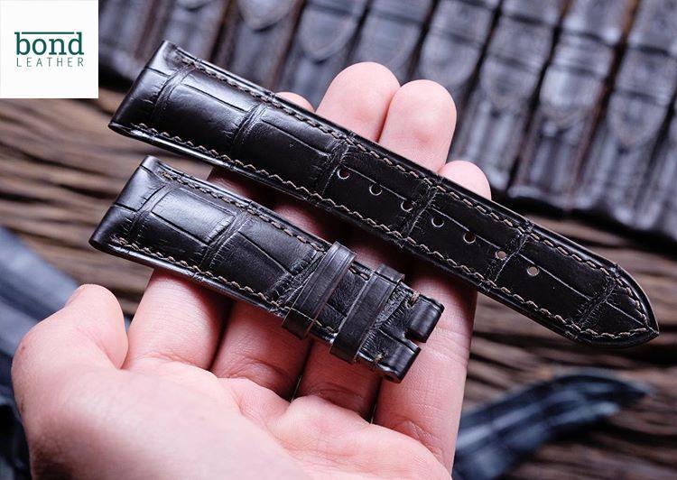Dây đồng hồ handmade da cá sấu EU (DCS 10095)