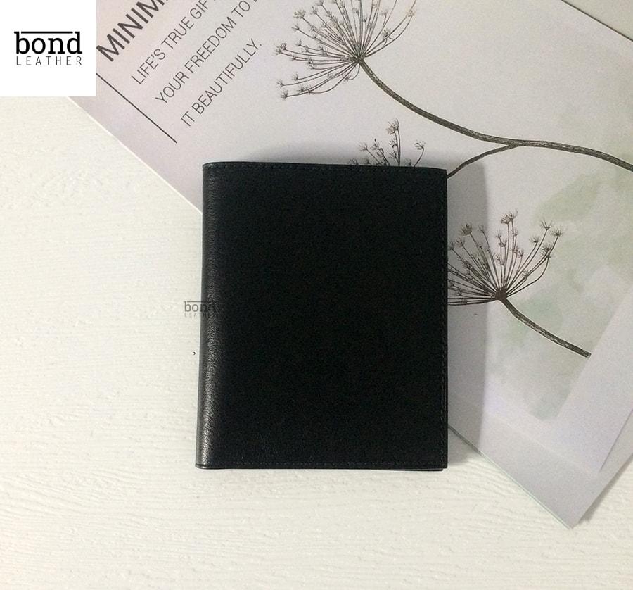 Bóp da nam Handmade Vachetta - Màu đen 20001