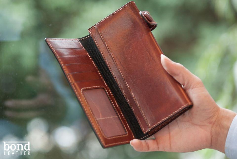 Bóp đựng điện thoại và tiền Vachetta