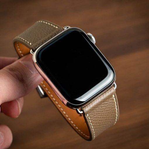Dây đồng hồ da bò Epsom apple watch