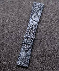 Dây đồng hồ da đà điểu handmade