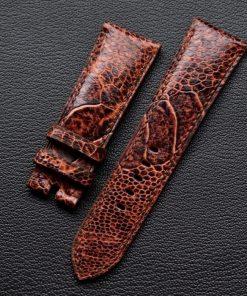 Dây đồng hồ da đà điểu thủ công