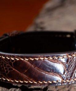 Dây đồng hồ da đà điểu Handmade dành cho Apple Watch