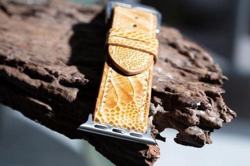 dây đồng hồ da đà điểu thiết kế sang trọng