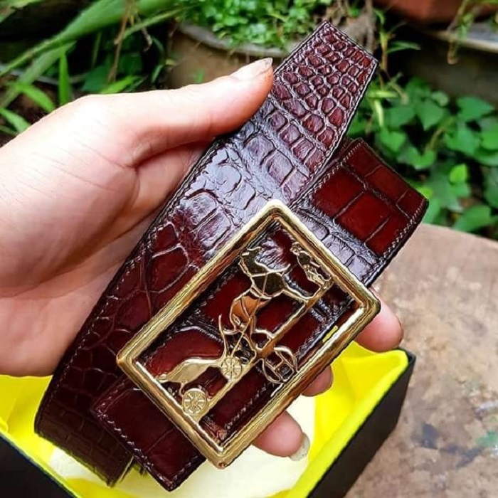 Dây lưng cá sấu HengLong Handmade
