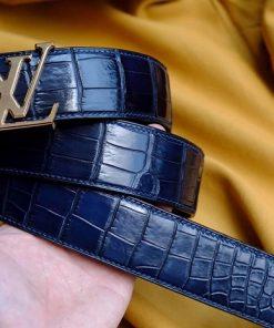 Thắt lưng cá sấu HengLong xanh Navy