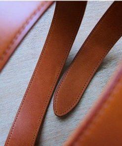 Thắt lưng da bò Veg Tan - Ý màu nâu