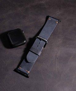 dây đồng hồ da bò sáp dành cho apple watch