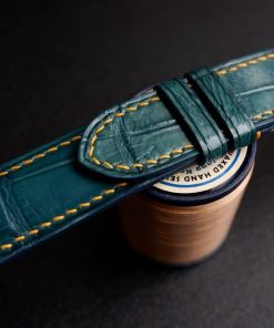 Dây đồng hồ da cá sấu Henglong màu đẹp