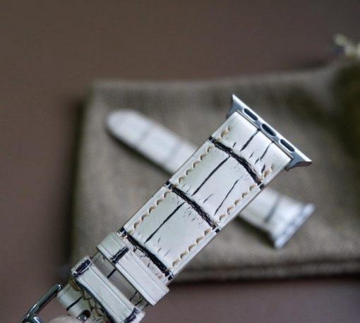 Dây đồng hồ da cá sấu Henglong apple watch cao cấp
