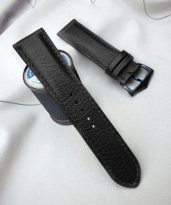 dây đồng hồ da dê Alran màu đen cao cấpdây đồng hồ da dê Alran màu đen đẹp