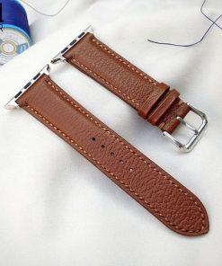 dây đồng hồ da dê Alran màu nâu sang trọng