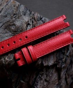 Dây đồng hồ da dê Alran màu đỏ sang trọng