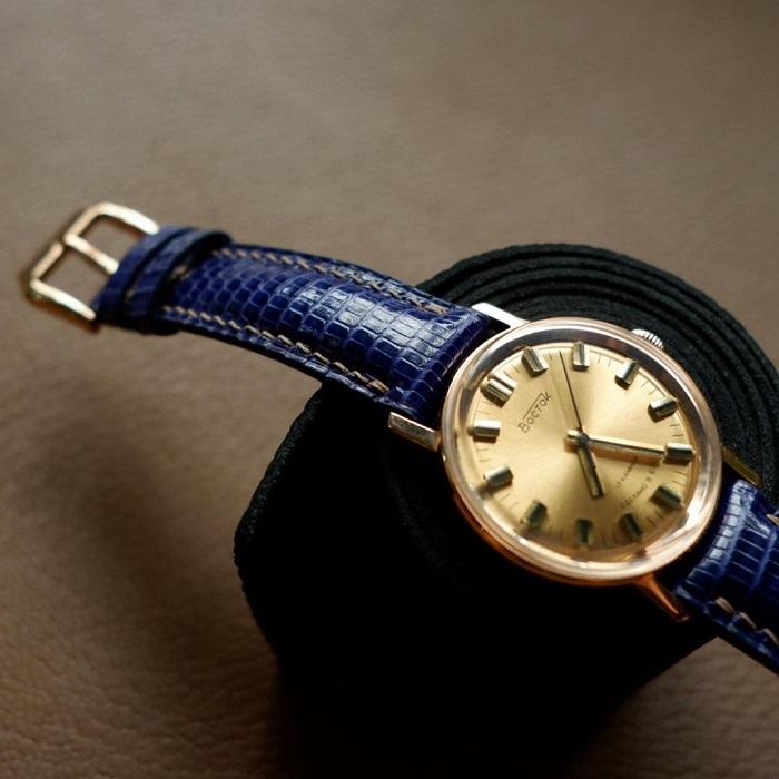 Dây đồng hồ da kì đà Ring màu đẹp