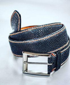 Thắt lưng da cá Đuối xanh Navy