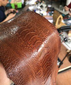 Thắt lưng da chân đà điểu nâu