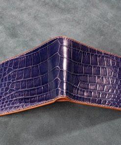Ví da cá sấu màu xanh navy tuyệt đẹp