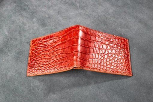 Ví da cá sấu khâu tay Handmade
