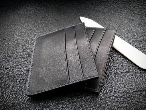 Ví name card da bò màu đen