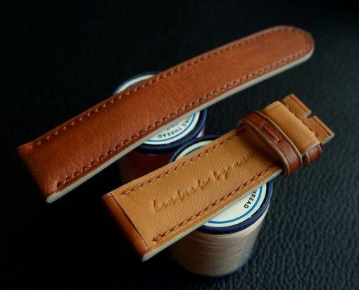 Dây đồng hồ nâu thủ công Handmade